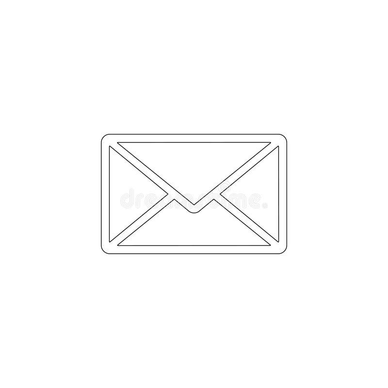 Ταχυδρομείο επίπεδο διανυσματικό εικονίδιο ελεύθερη απεικόνιση δικαιώματος