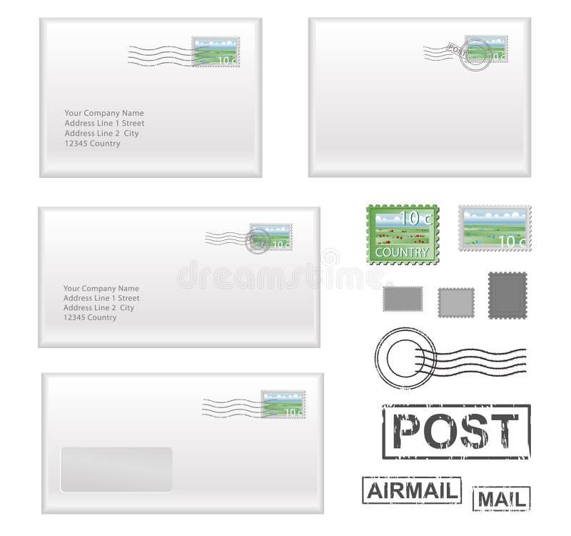 ταχυδρομείο προσφωνήσεων διανυσματική απεικόνιση