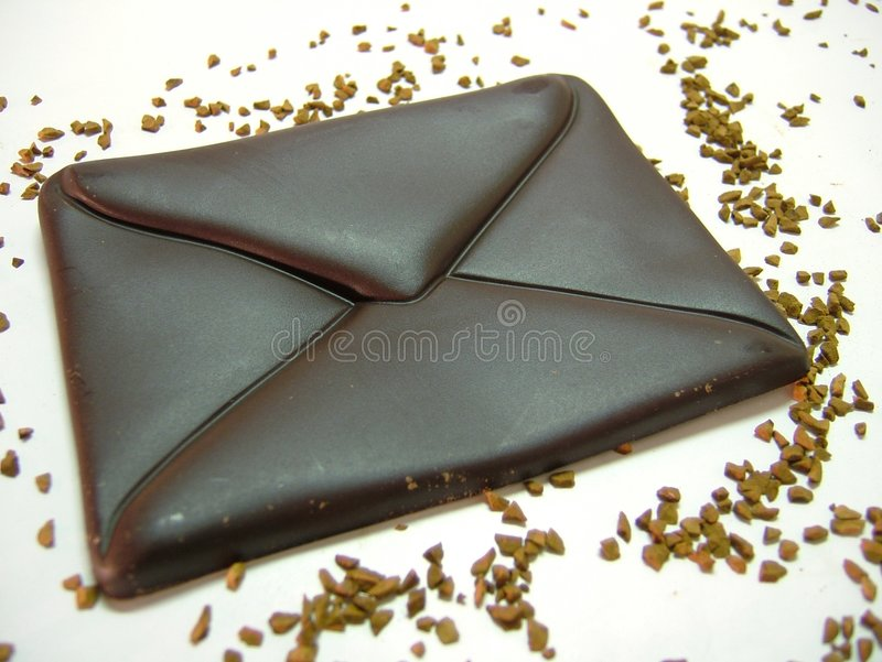 ταχυδρομείο σοκολάτα&sigma στοκ εικόνες