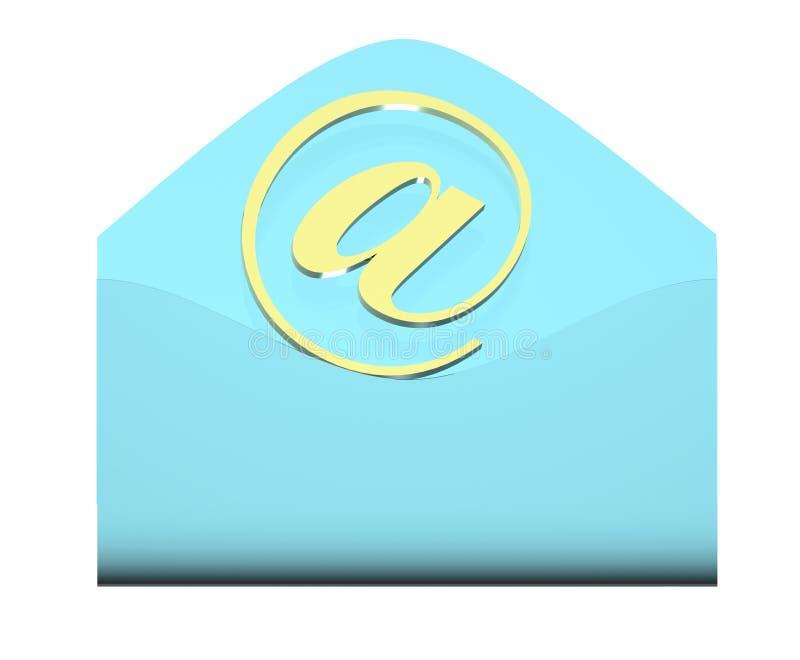 ταχυδρομείο φακέλων έννο& απεικόνιση αποθεμάτων