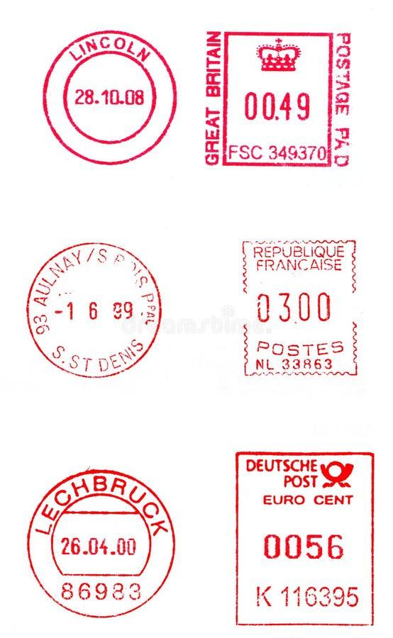ταχυδρομικά τέλη μετρητών διανυσματική απεικόνιση