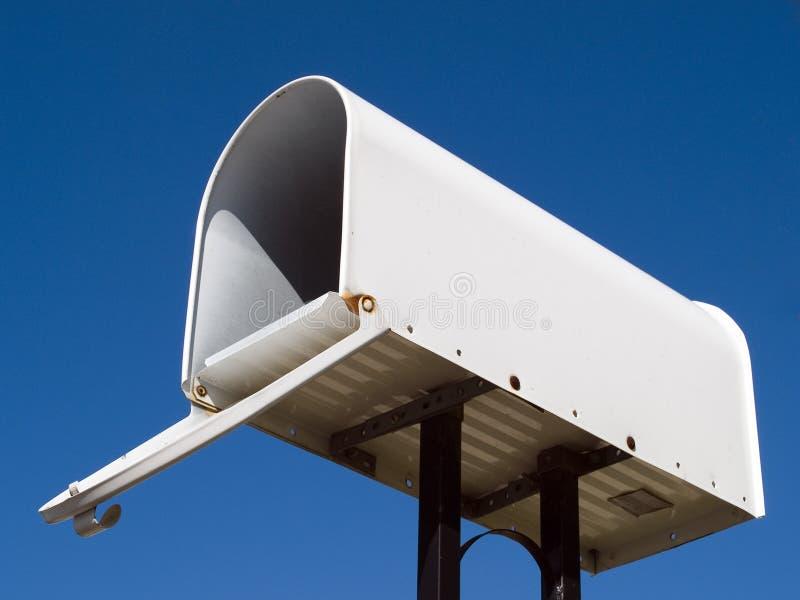 Ταχυδρομική θυρίδα με το μπλε ουρανό στοκ εικόνα