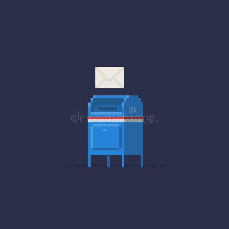 Ταχυδρομική θυρίδα τέχνης εικονοκυττάρου απεικόνιση αποθεμάτων