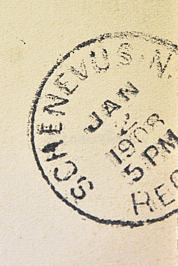 Ταχυδρομική σφραγίδα της Νέας Υόρκης Schenevus στοκ φωτογραφίες