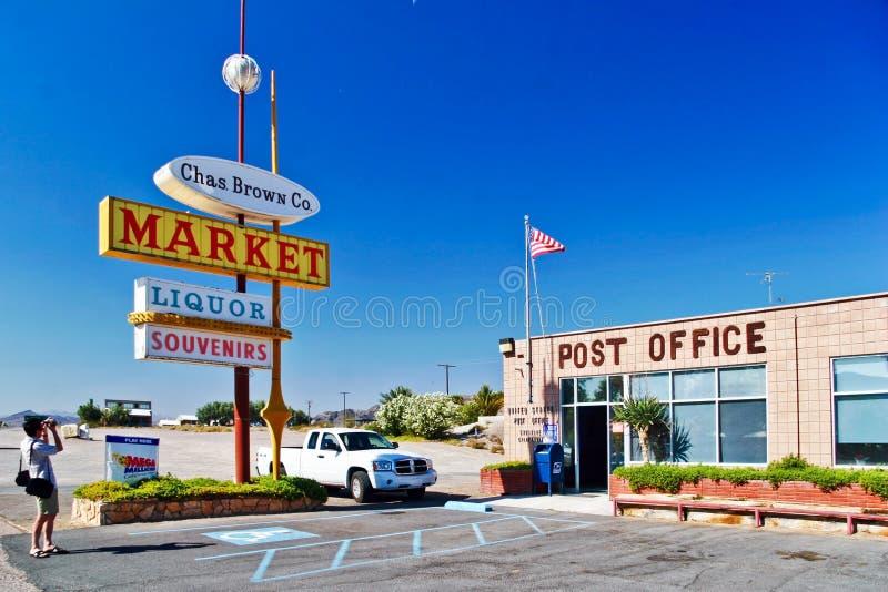 Ταχυδρομείο στο χωριό Shoshone στοκ εικόνα με δικαίωμα ελεύθερης χρήσης