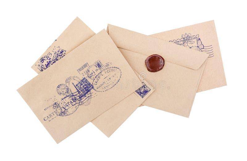 Ταχυδρομικοί φάκελοι, αλληλογραφία στοκ εικόνα με δικαίωμα ελεύθερης χρήσης