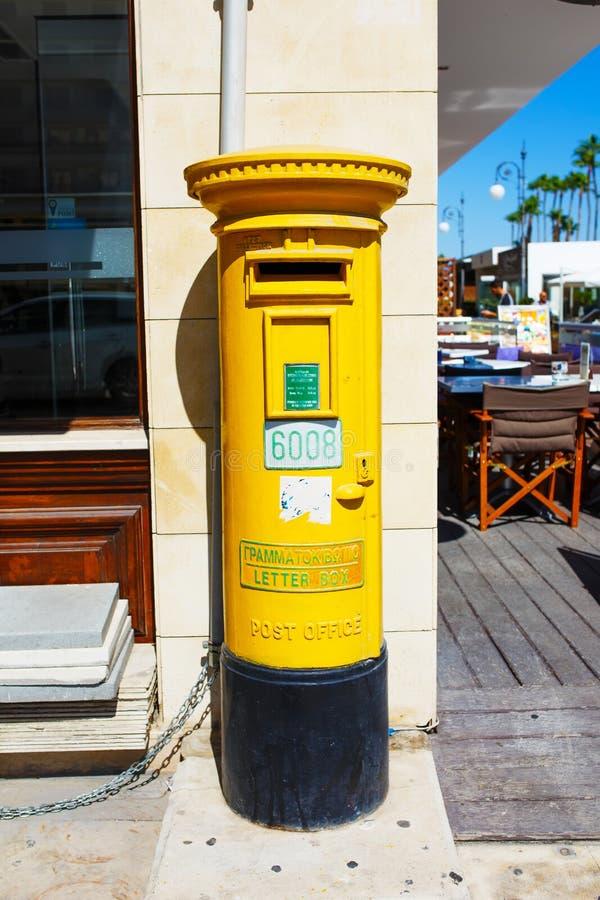 Ταχυδρομικό κιβώτιο στυλοβατών της Κύπρου στοκ φωτογραφία με δικαίωμα ελεύθερης χρήσης