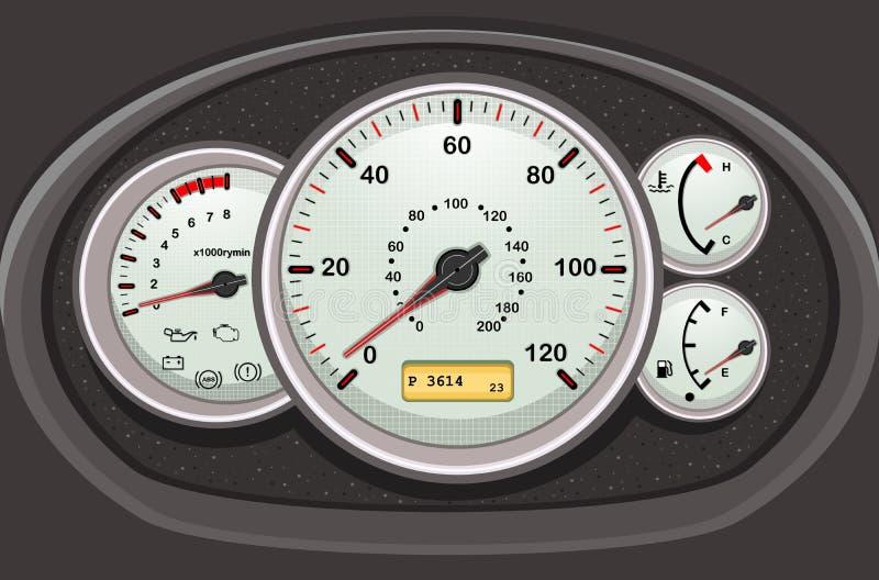 Ταχύμετρο και ταμπλό αυτοκινήτων ελεύθερη απεικόνιση δικαιώματος