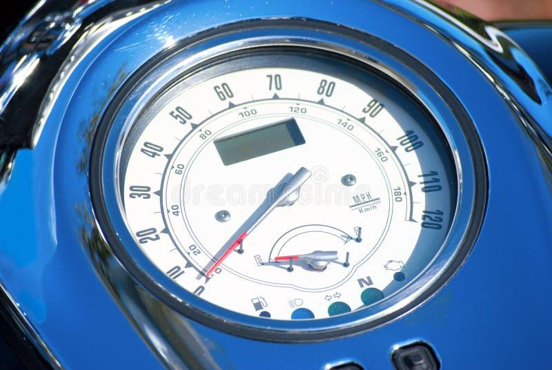 Ταχύμετρο μοτοσικλετών στοκ φωτογραφία