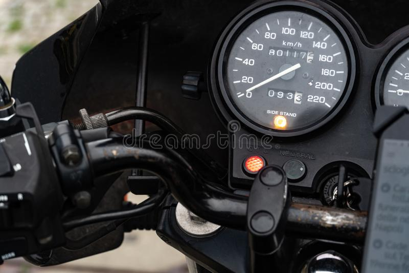 Ταχύμετρο μοτοσικλετών στοκ φωτογραφία με δικαίωμα ελεύθερης χρήσης