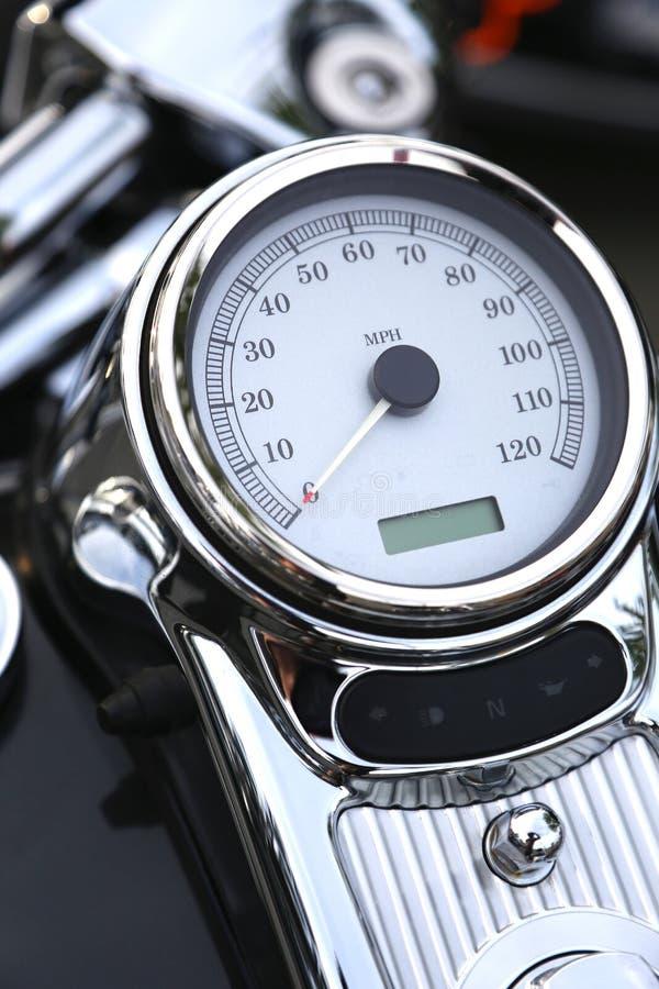 Ταχύμετρο μοτοσικλετών bord στοκ φωτογραφία