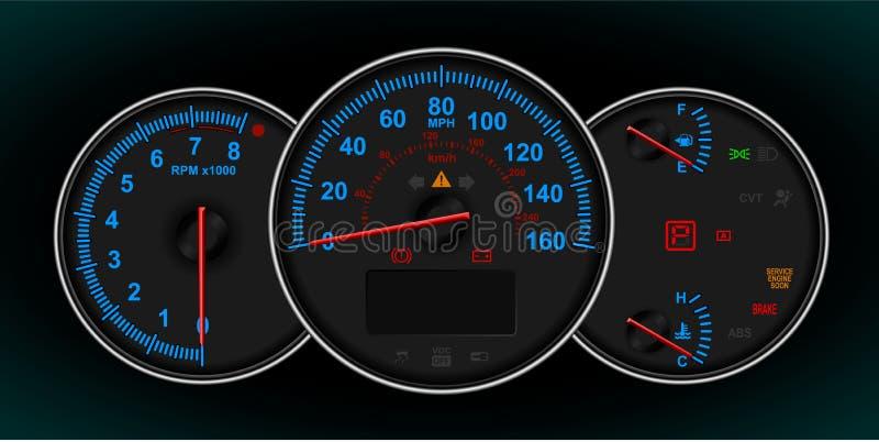ταχύμετρο περιστροφής/λ&epsil διανυσματική απεικόνιση