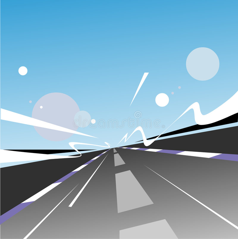 ταχύτητα εθνικών οδών απεικόνιση αποθεμάτων