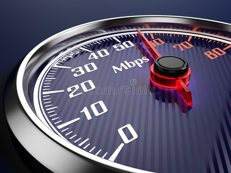 Ταχύτητα της σύνδεσης στο Διαδίκτυο απεικόνιση αποθεμάτων