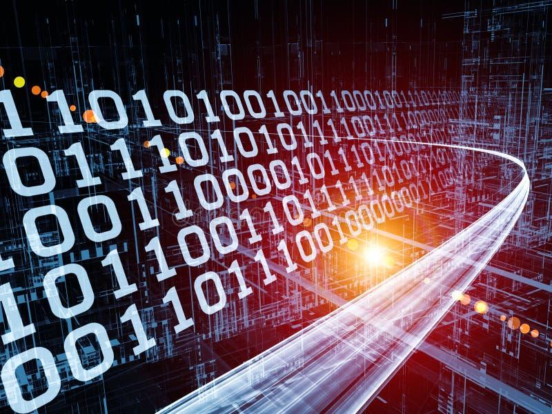 Ταχύτητα του ρεύματος πληροφοριών ελεύθερη απεικόνιση δικαιώματος
