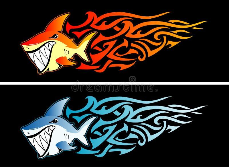 Ταχύτητα φλογών καρχαριών ελεύθερη απεικόνιση δικαιώματος