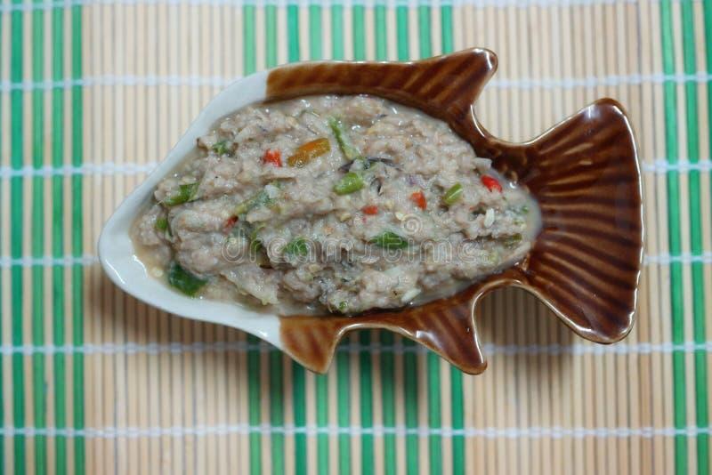 Ταϊλανδέζικο φαγητό, πάστα τσίλι, υγιεινό φαγητό, χρήσιμο στοκ εικόνα