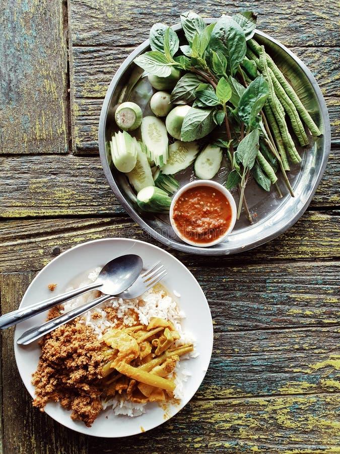 Ταϊλανδικά τρόφιμα από το νότιο μέρος της Ταϊλάνδης στοκ εικόνα με δικαίωμα ελεύθερης χρήσης