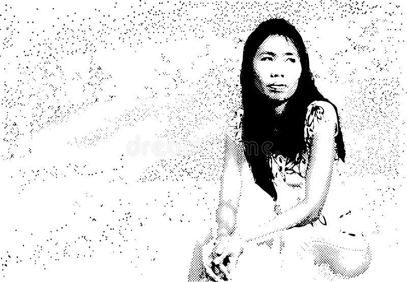 ταϊλανδική γυναίκα απεικόνιση αποθεμάτων