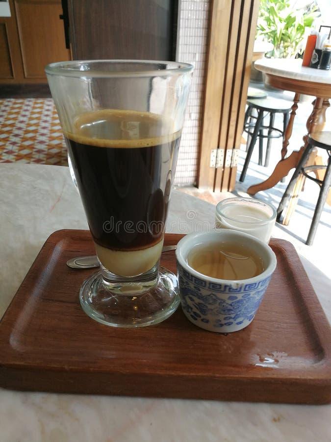 Ταϊλανδικός καφές ύφους στοκ εικόνες με δικαίωμα ελεύθερης χρήσης