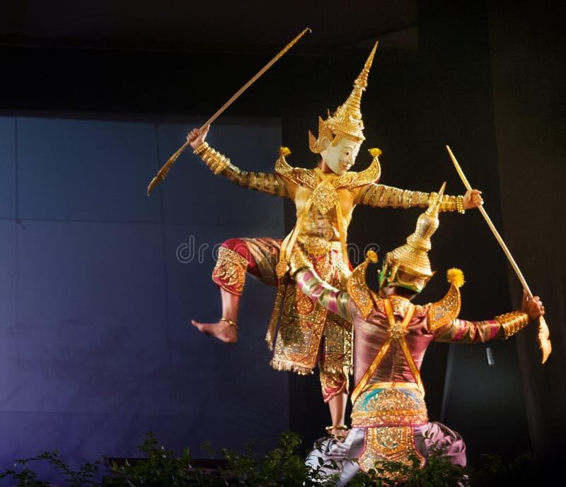 Ταϊλανδικό θέατρο μαριονετών στοκ φωτογραφία