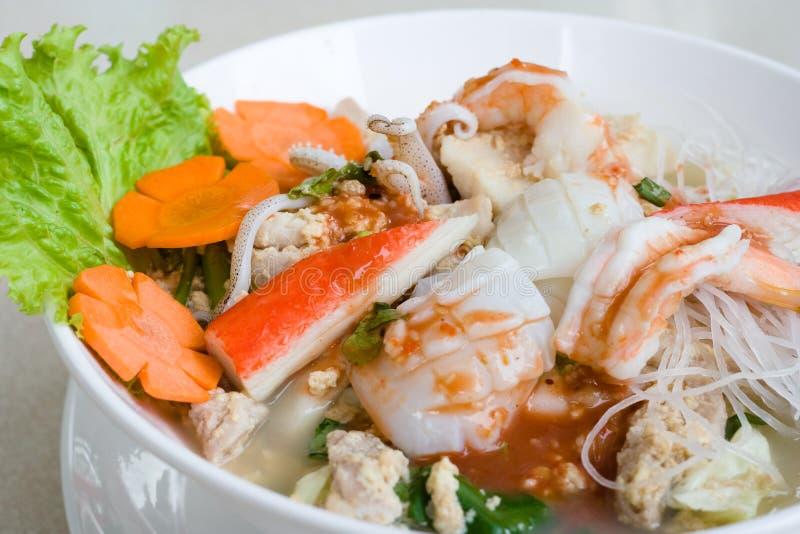 Ταϊλανδικό noodle θαλασσινών στοκ εικόνα