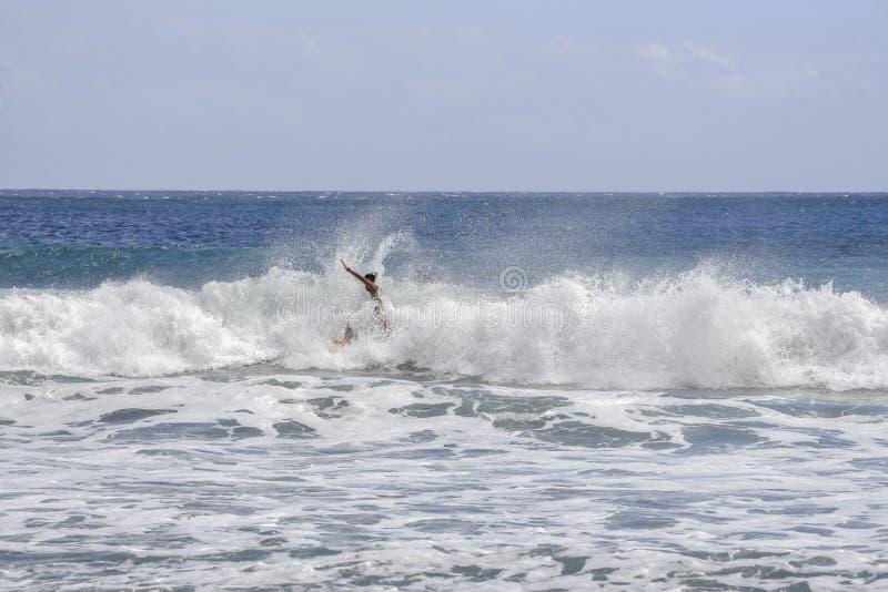 Ταϊτή, ωκεανός στοκ εικόνα με δικαίωμα ελεύθερης χρήσης