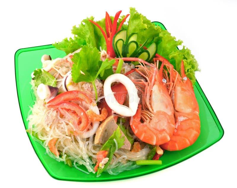 Ταϊλανδικά πικάντικα θαλασσινά στοκ εικόνα
