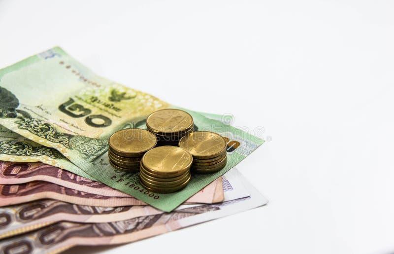 Ταϊλανδικά τραπεζογραμμάτιο και νόμισμα στοκ εικόνα