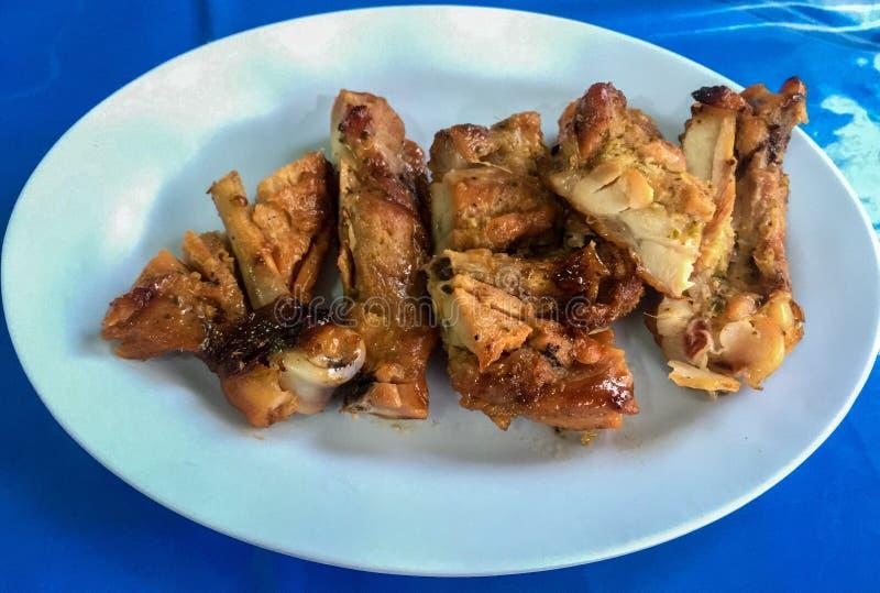 Ταϊλανδικά τρόφιμα κοτόπουλου στοκ εικόνες με δικαίωμα ελεύθερης χρήσης