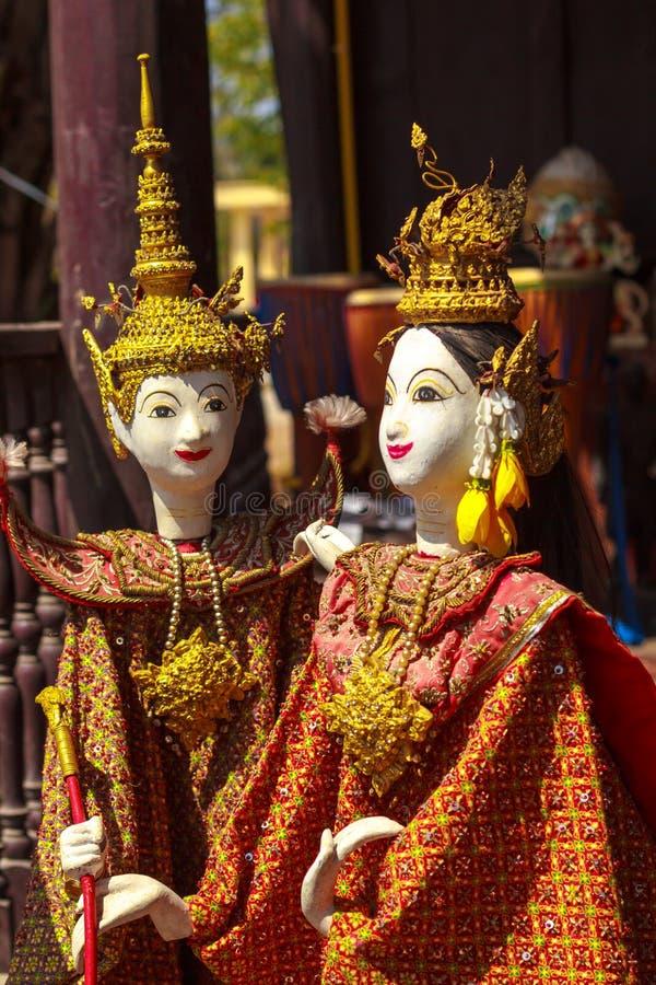 Ταϊλανδικές μαριονέτες στοκ εικόνες