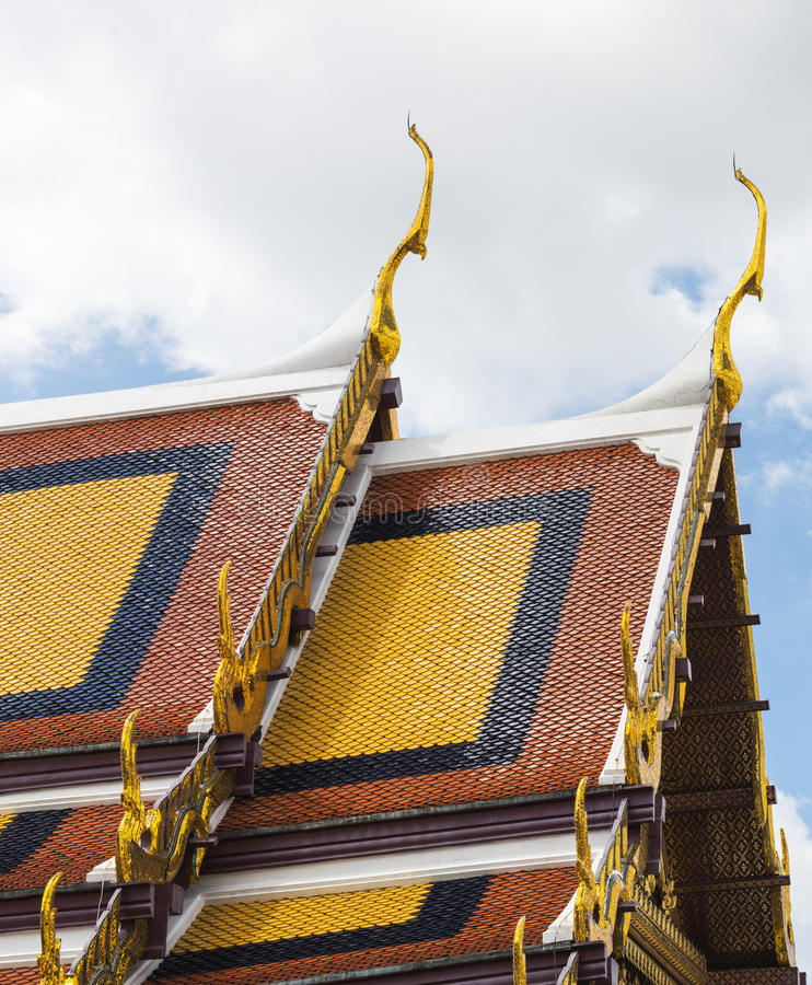 Ταϊλανδική έννοια αρχιτεκτονικής ύφους βουδιστική στοκ φωτογραφία