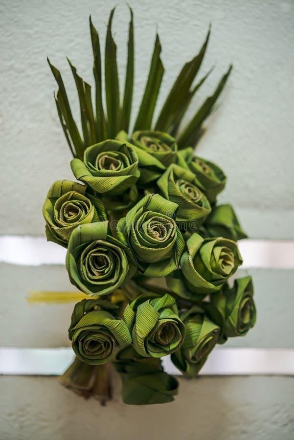 Ταϊλανδική ανθοδέσμη παράδοσης των τριαντάφυλλων στοκ εικόνες με δικαίωμα ελεύθερης χρήσης