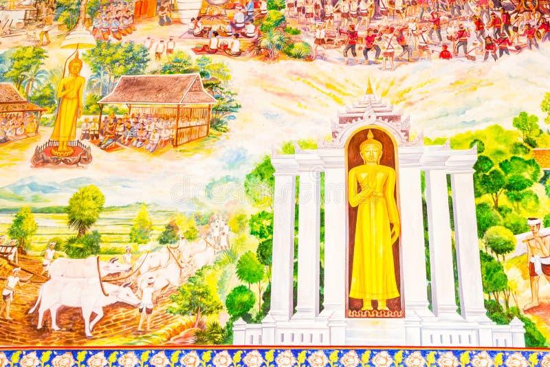Ταϊλανδική ζωγραφική τέχνης στοκ φωτογραφία με δικαίωμα ελεύθερης χρήσης