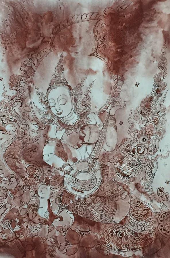 Ταϊλανδική ζωγραφική τέχνης στοκ εικόνες
