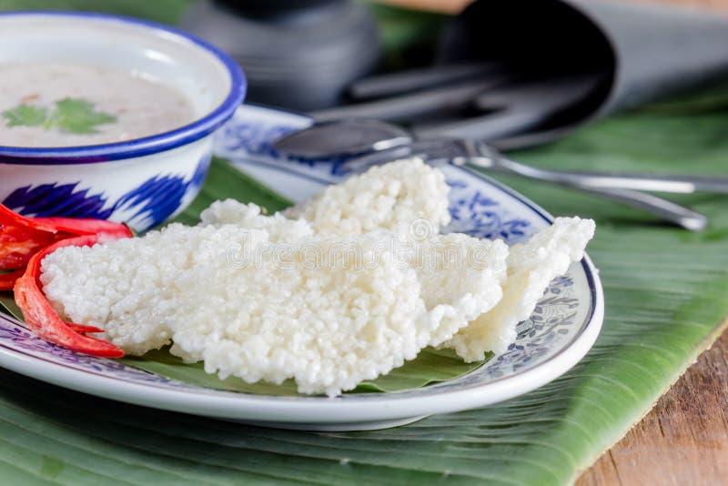 Ταϊλανδική κροτίδα ρυζιού στοκ εικόνες με δικαίωμα ελεύθερης χρήσης
