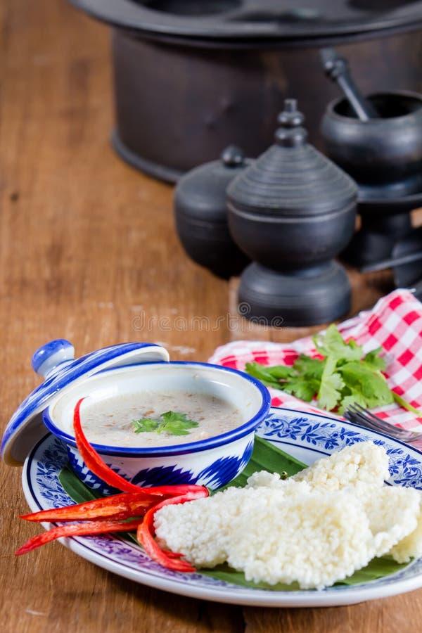 Ταϊλανδική κροτίδα ρυζιού στοκ φωτογραφία