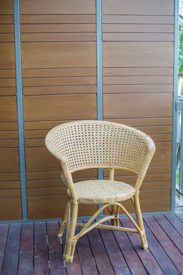 Ταϊλανδική παραδοσιακή υφαμένη καρέκλα στοκ φωτογραφία με δικαίωμα ελεύθερης χρήσης