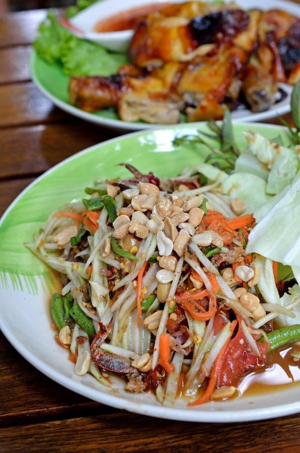Ταϊλανδική papaya σαλάτα στοκ εικόνες