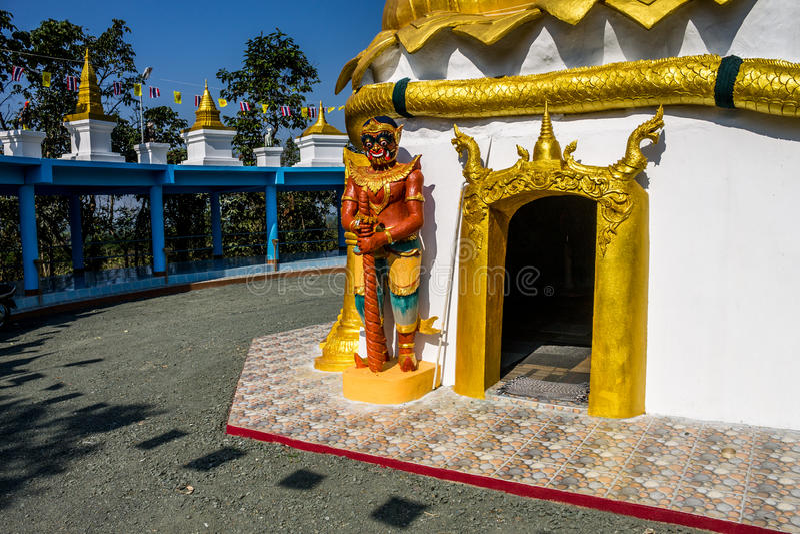 Ταϊλανδικός παραδοσιακός φανταστικός φύλακας στοκ φωτογραφία