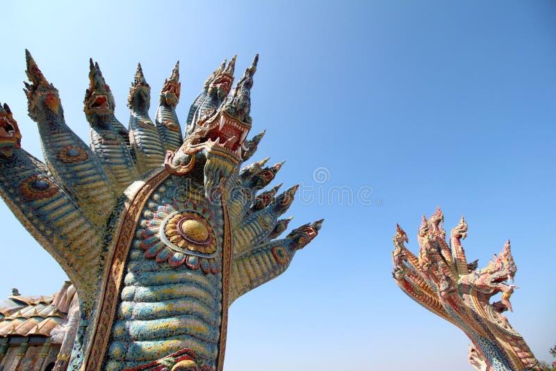 Ταϊλανδικός δράκος ή βασιλιάς Naga στοκ φωτογραφία με δικαίωμα ελεύθερης χρήσης