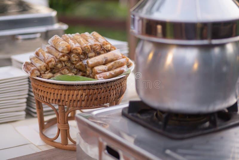 Ταϊλανδικός τομέας εστιάσεως τροφίμων στοκ εικόνες