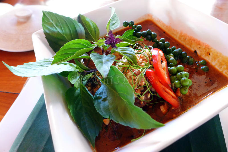 Ταϊλανδικό ασιατικό πιάτο κάρρυ στοκ εικόνες με δικαίωμα ελεύθερης χρήσης
