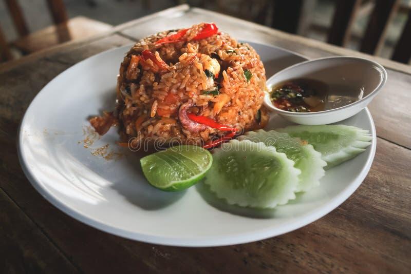 Ταϊλανδικό βαλμένο φωτιά διοσκορέα ρύζι του Tom στοκ φωτογραφία με δικαίωμα ελεύθερης χρήσης
