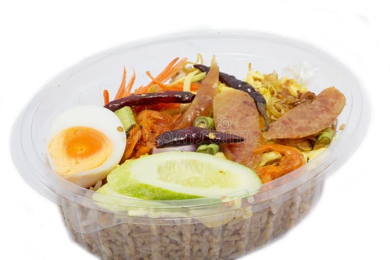 Ταϊλανδικό καλαθάκι με φαγητό στοκ φωτογραφίες