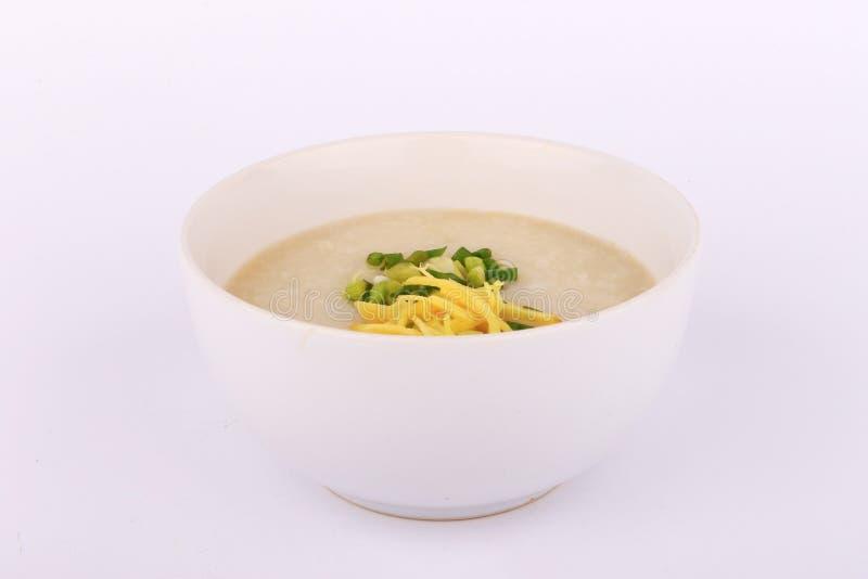 Ταϊλανδικό κουάκερ ρυζιού με το χοιρινό κρέας, gruel ρυζιού στοκ εικόνες