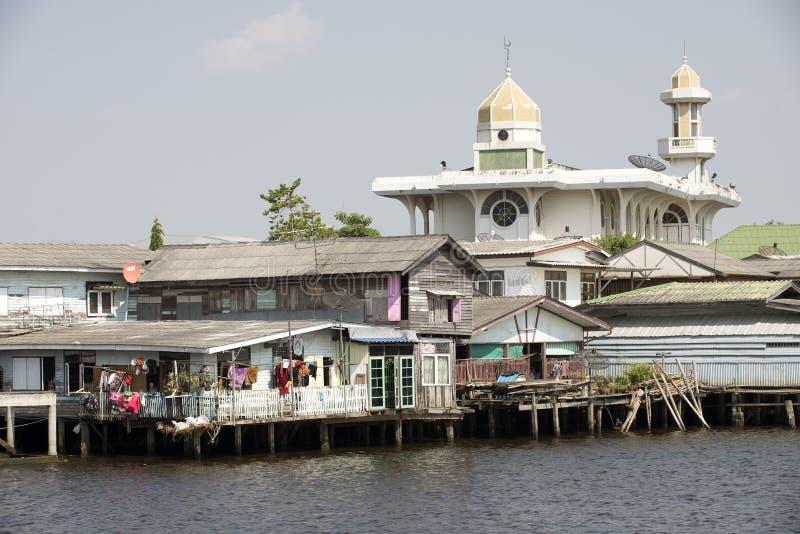 Ταϊλανδικό μουσουλμανικό μουσουλμανικό τέμενος Μπανγκόκ Ταϊλάνδη στοκ εικόνα με δικαίωμα ελεύθερης χρήσης