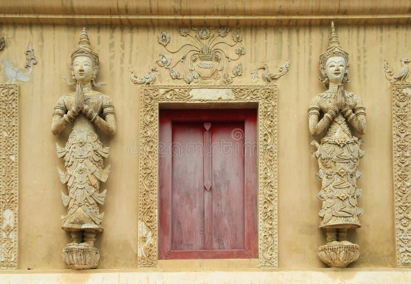 Ταϊλανδικό παράθυρο ναών στοκ φωτογραφία