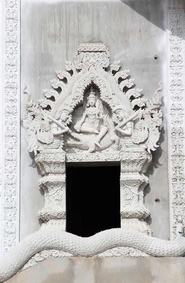 ταϊλανδικό παράθυρο ναών στοκ εικόνα με δικαίωμα ελεύθερης χρήσης