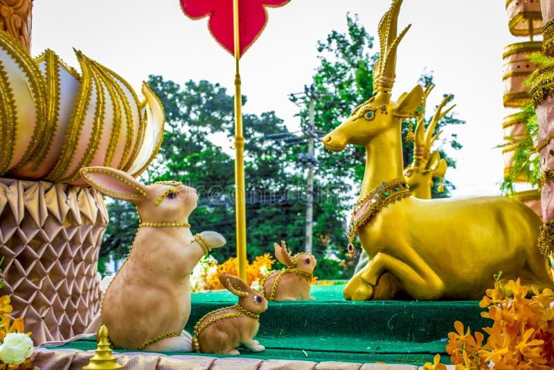 Ταϊλανδικό παραχωρήσώντα φεστιβάλ στοκ εικόνες